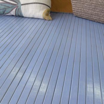 Alfombra de bambú azul