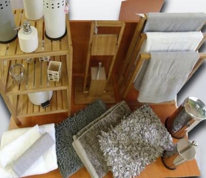 Alfombras y estanterías de baño