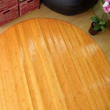 Alfombra de bambú naranja