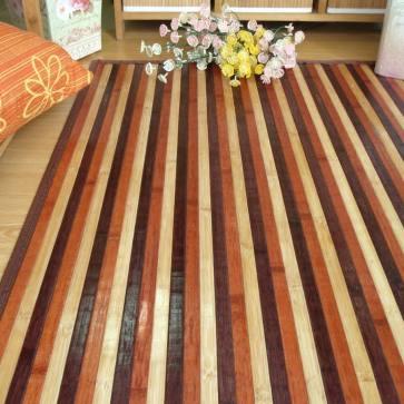 Alfombra de bambú combinada