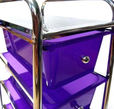 Mueble carrito de cocina violeta