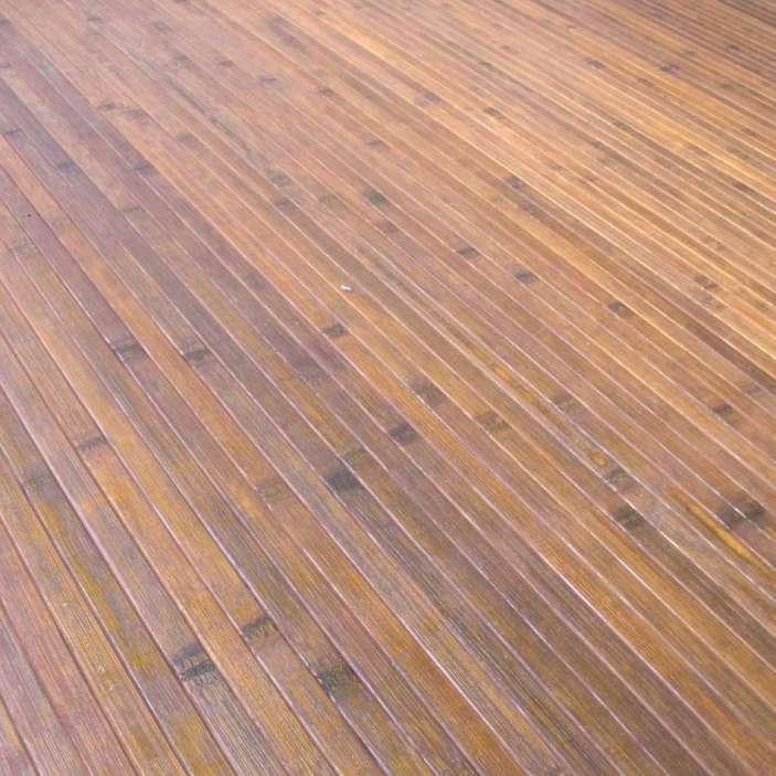 Láminas de bambú en alfombras