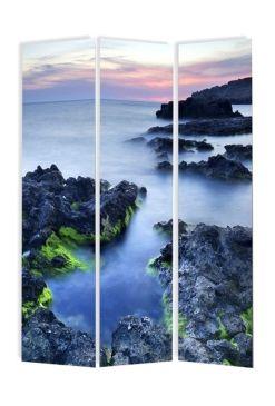 Biombo paisaje costero