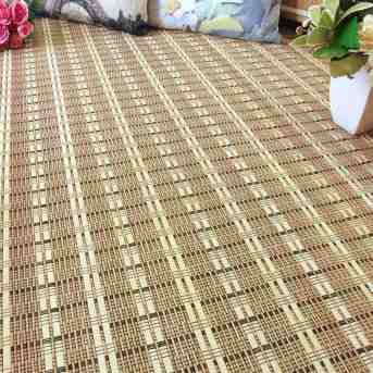 Alfombra de bambú con hilo