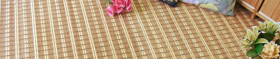Alfombras de madera de bambú