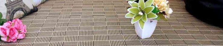 Alfombra de bambú