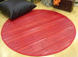 Alfombra de bambú roja