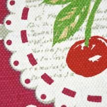 Alfombra de cocina con cerezas