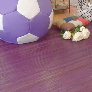 Puff balón con alfombra