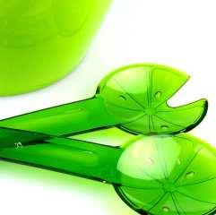 Ensaladera verde acrílica