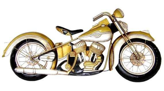 Aplique metálico pared moto