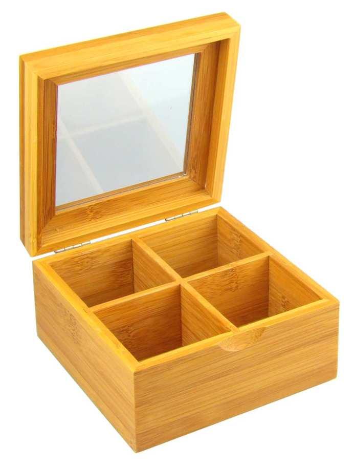 Caja de tés de bambú
