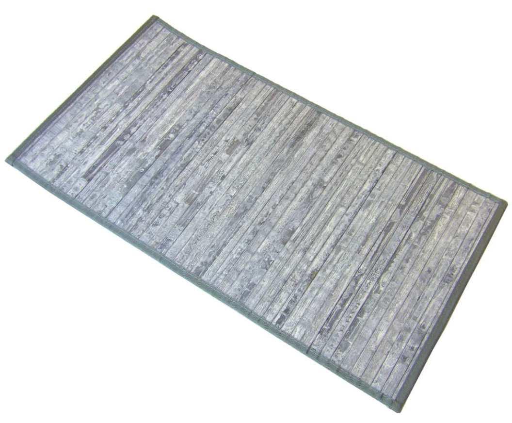 Alfombra de bambú gris