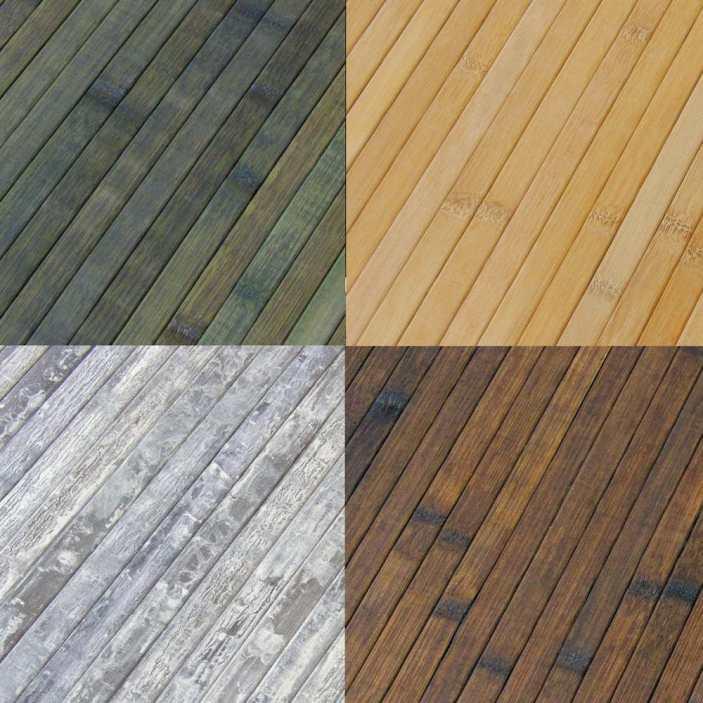 Esterillas de bambú