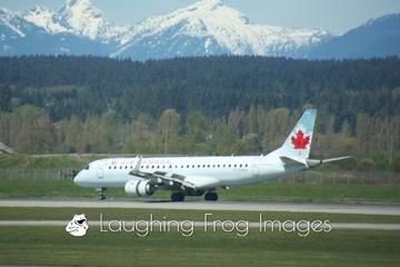 Air Canada E-190 at YVR.