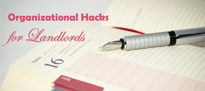 Organization Hacks for Landlords