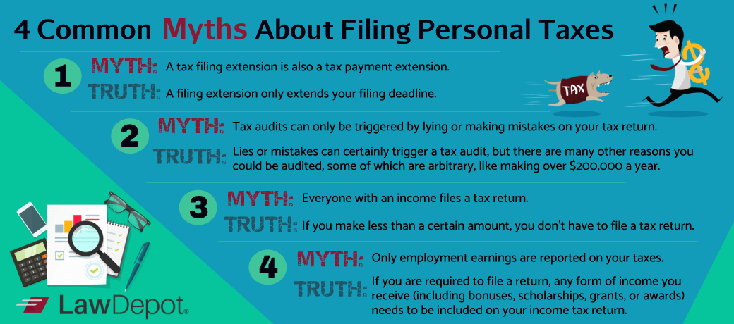 4 Common Myths About Filing Personal Taxes Lawdepot Blog