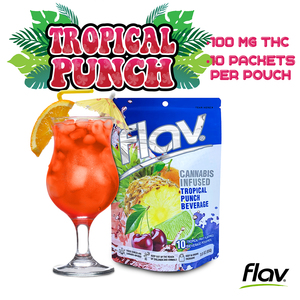 Flav cannabis-infused Tropical Punch beverage