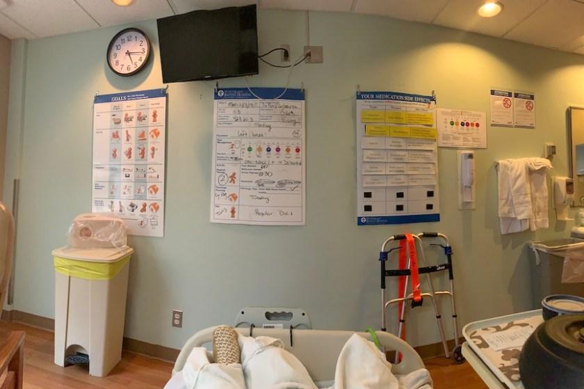 Hospital wall charts