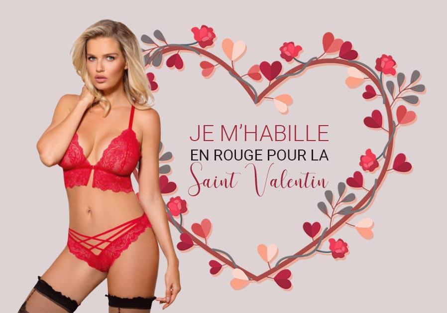 Je m'habille en rouge pour la St-Valentin !
