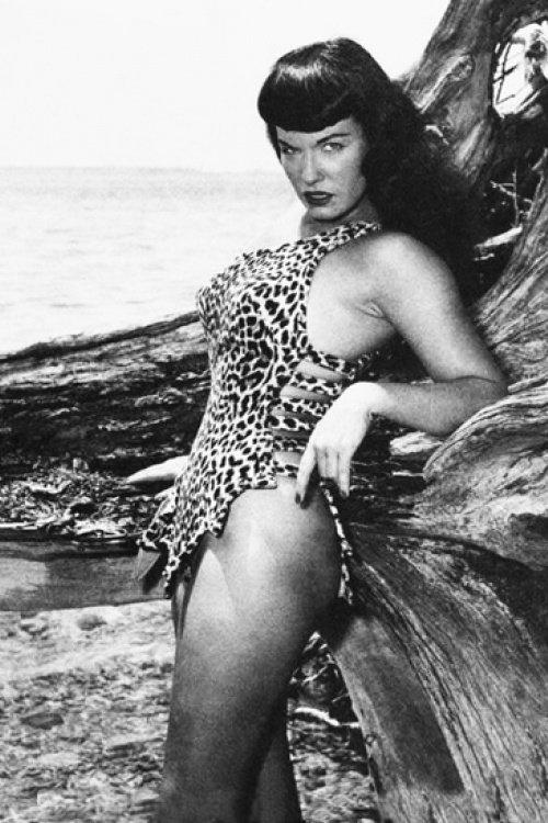 La pin-up Bettie Page portant un body