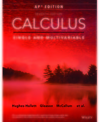 Wiley's Hughes-Hallet, Calculus 7e, AP Edition