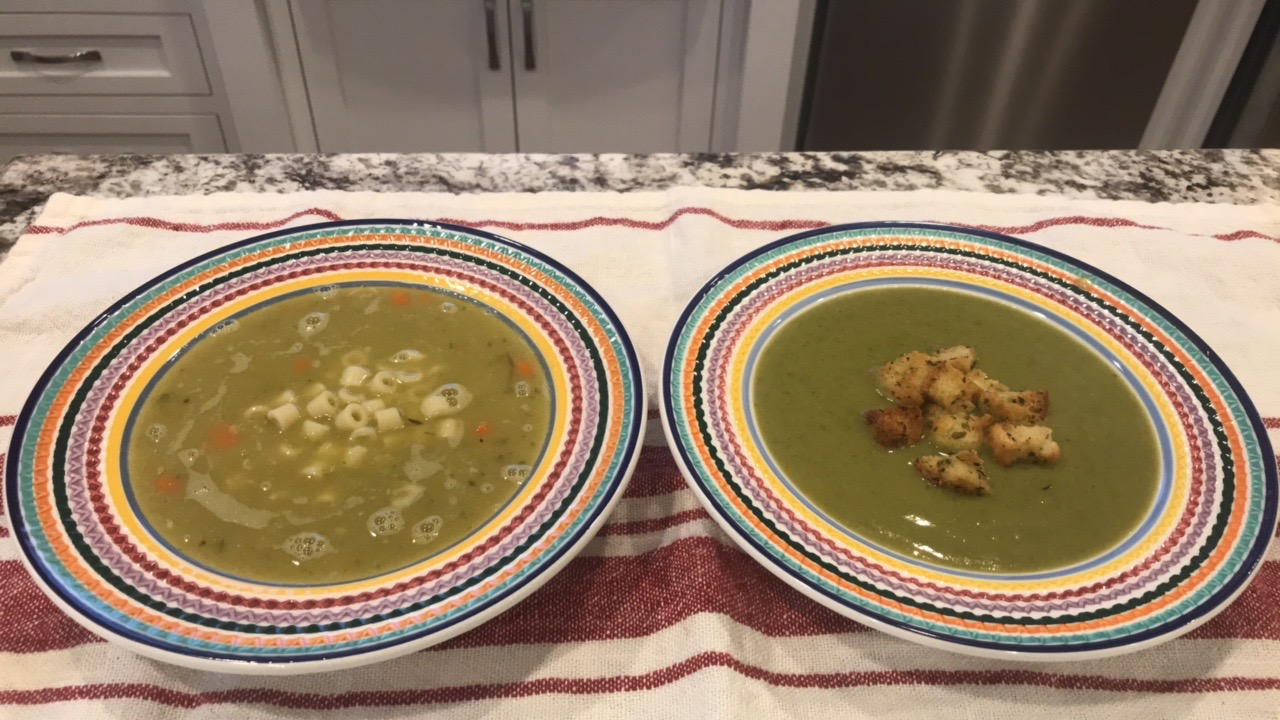 Split Pea Soup with Homemade Croutons