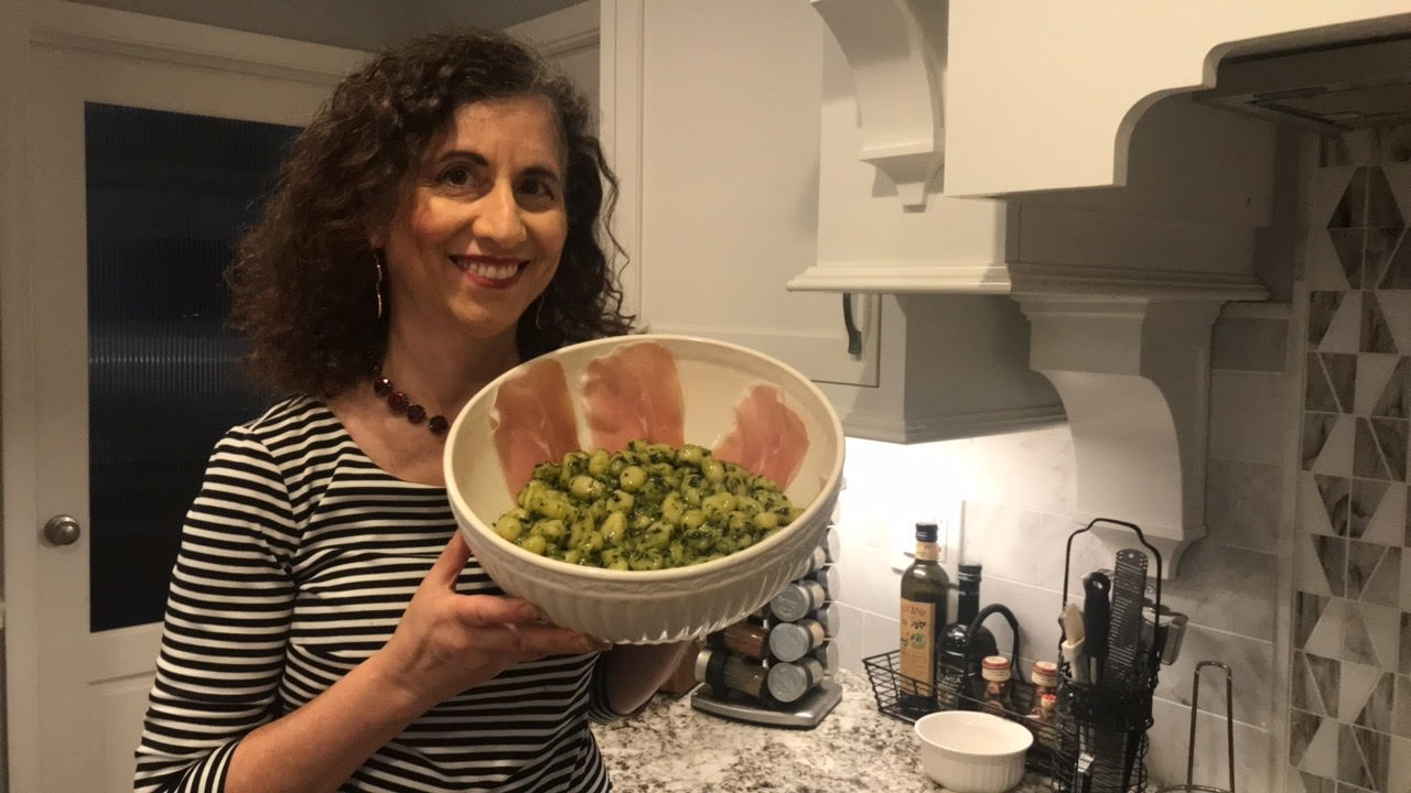 Pesto alla Genovese with Gnocchi: Everything You Always Wanted to Know About Making Pesto!