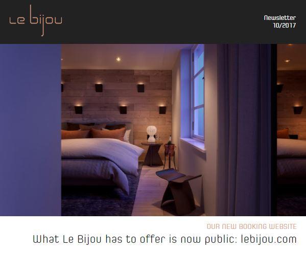 Le Bijou Newsletter 2017-10-05