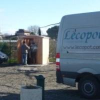 Des toilettes sèches extérieures Lecopot à Toulouse