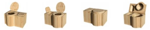 toilette sèche modèle Papillon en douglas