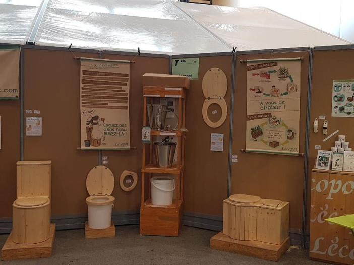 toilettes sèches au salon Primevère de Lyon