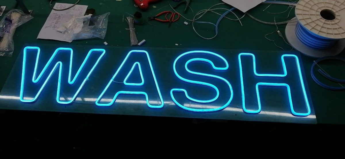 LED NEON Car Wash