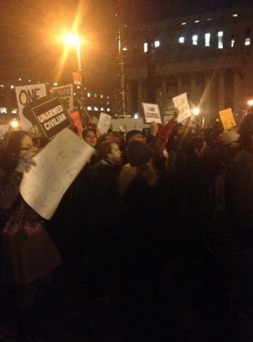 A photo from one of the recent protests in New York City.