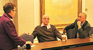 Arthur Levine (center), Jason Low (right)