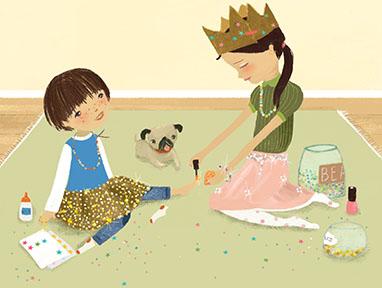 Sparkle Boy illustration
