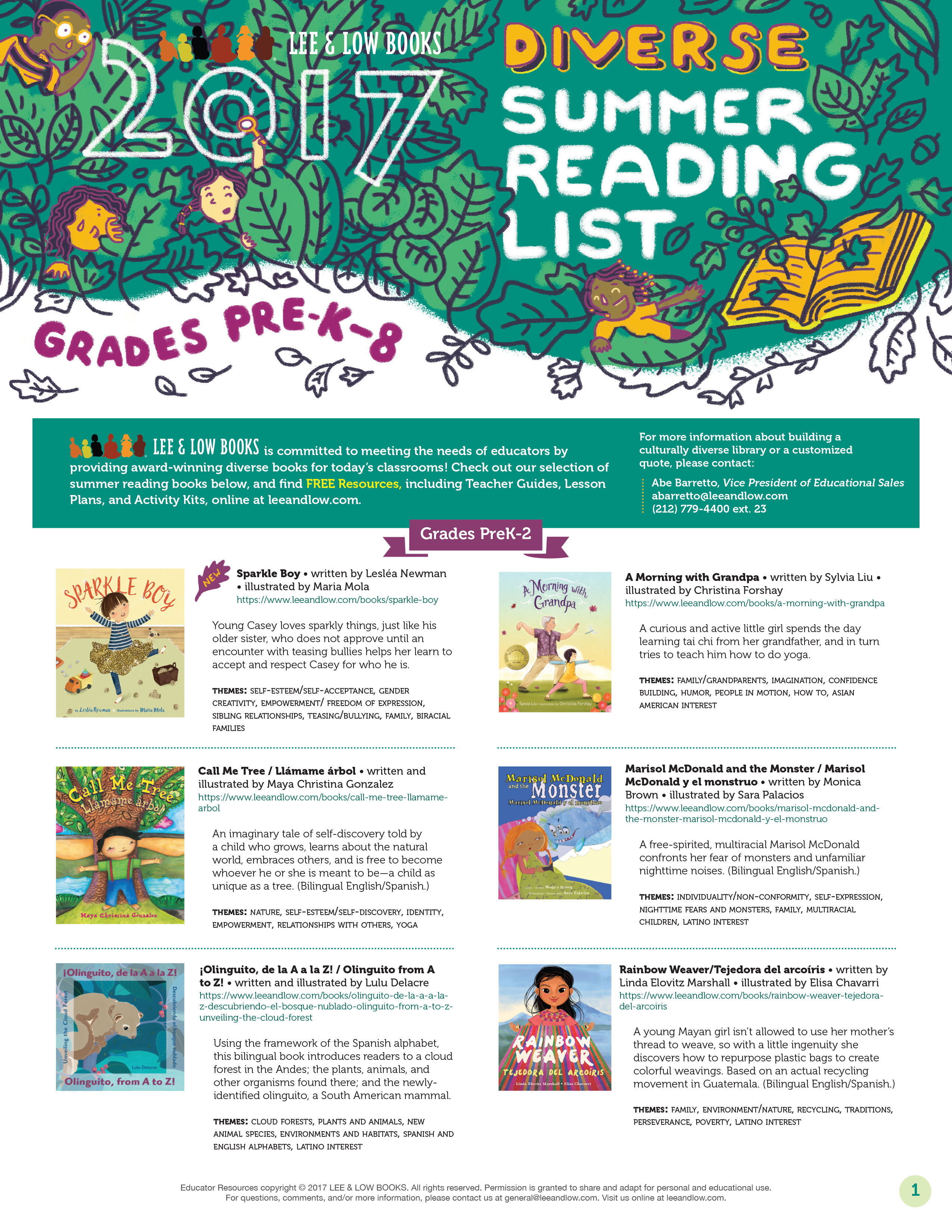Summer Reading List For And By Teachers >> Diverse Summer Reading Lee Low Blog