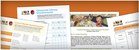 Educators Grade Level Resources, images of survey forms against an orange background