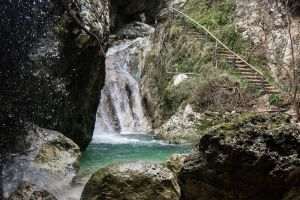 Dimossari Waterfall in island Lefkada