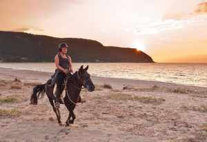 Horseriding in amazing Ai Giannis beach in Lefkada