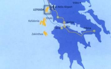 Map of Lefkada island