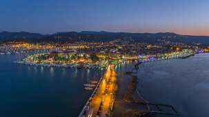 Lefkada town at night