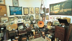 A Phonography exhibition in the center of Lefkada