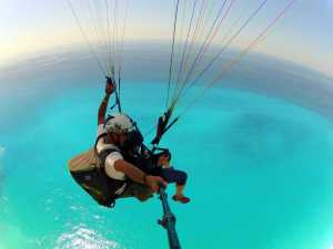 Paragliding above Lefkada