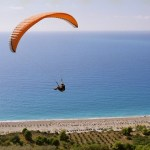 Paragliding above Kathisma beach