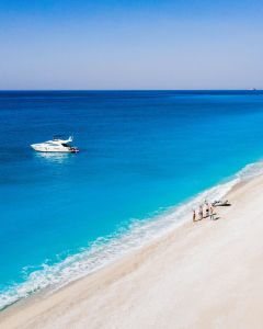 Egremni sandy beach in Lefkada!