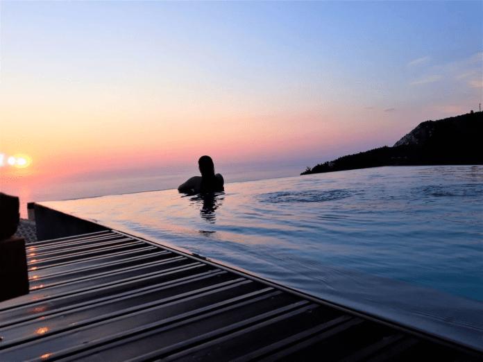 Egremni beach in Lefkada island.