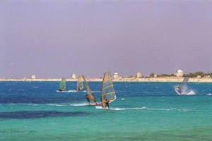 Windsurfing in Ai Giannis awarded beach!