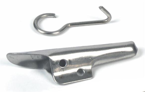 SS spile and hook for sap gathering