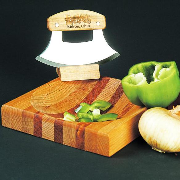 Chop quickly and neatly! Lehman's Curved Blade Chopper, available at Lehman's in Kidron, Ohio or at Lehmans.com.